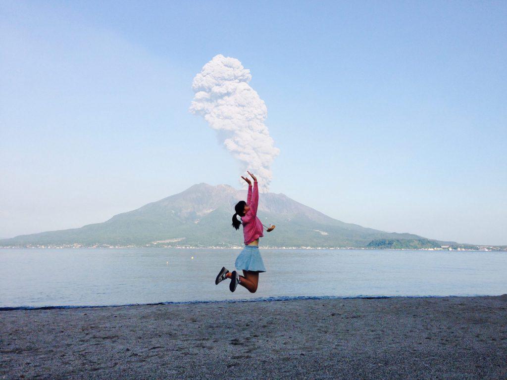 鹿兒島櫻島火山噴發