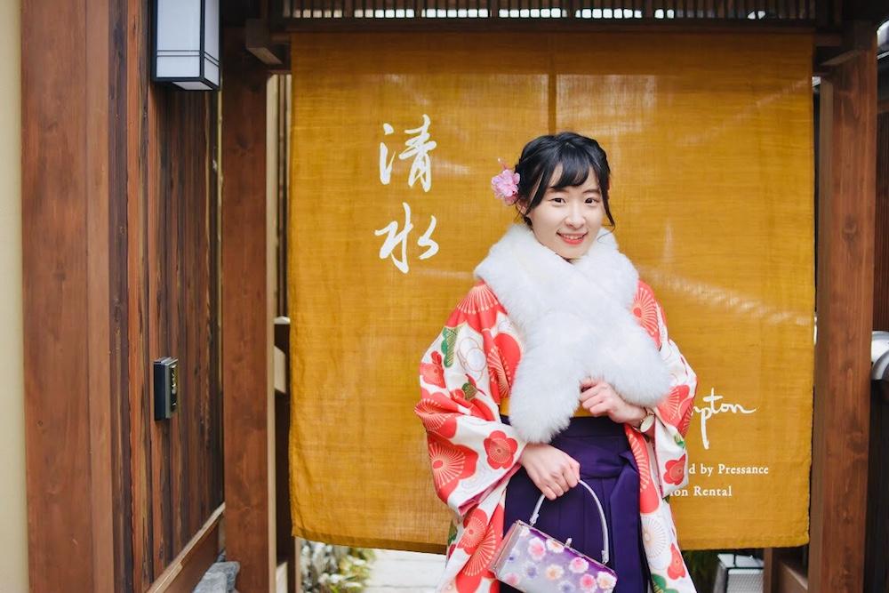京都和服租借推薦!江戶和裝工房 雅祇園分店:可愛卒業袴一日散策