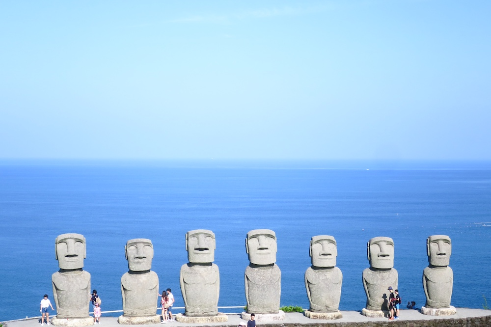 宮崎小旅行.日南海岸「SUN MESSE」眺望復活島摩艾石像絕美海景