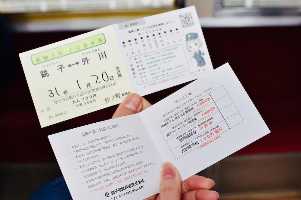 弧迴一日券(銚子電鐵一日券)