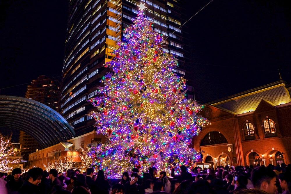 惠比壽花園廣場中央聖誕樹