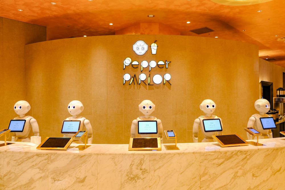 機器人咖啡廳「Pepper PARLOR」入口