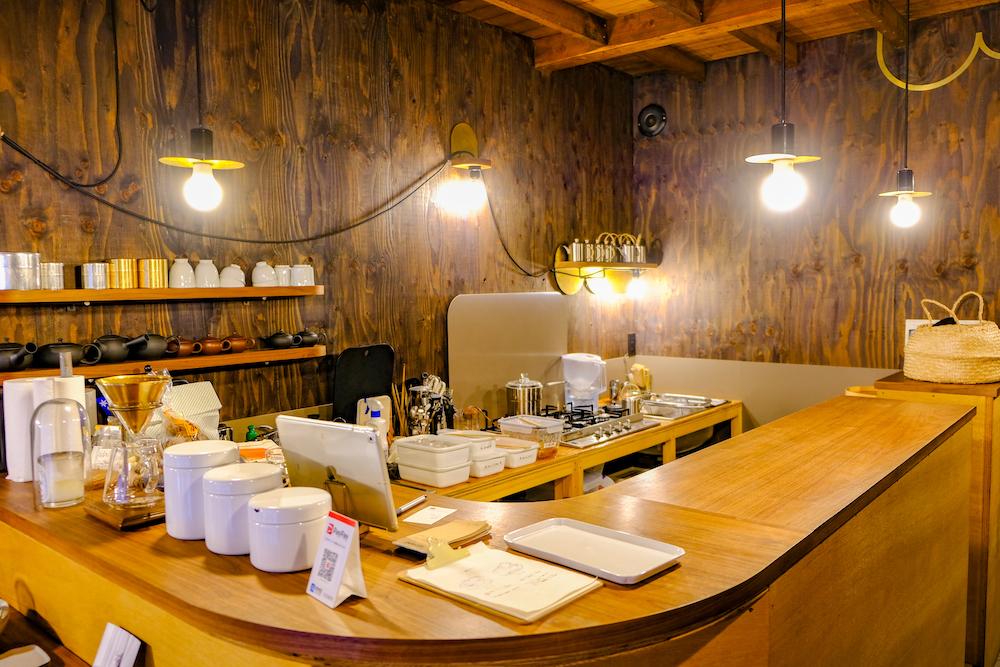 東京・千駄木古民家咖啡廳「雨音茶寮」 店內
