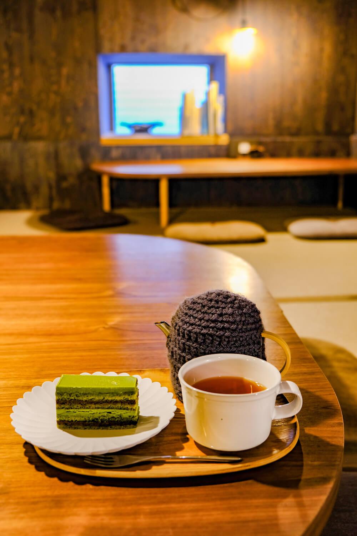 雨音茶寮 午茶套餐 抹茶蛋糕 紅茶
