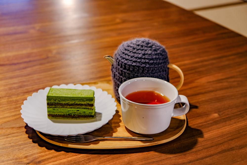 雨音茶寮 抹茶蛋糕套餐