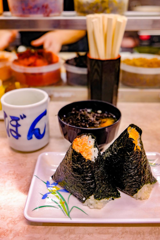 大塚飯糰 味噌湯