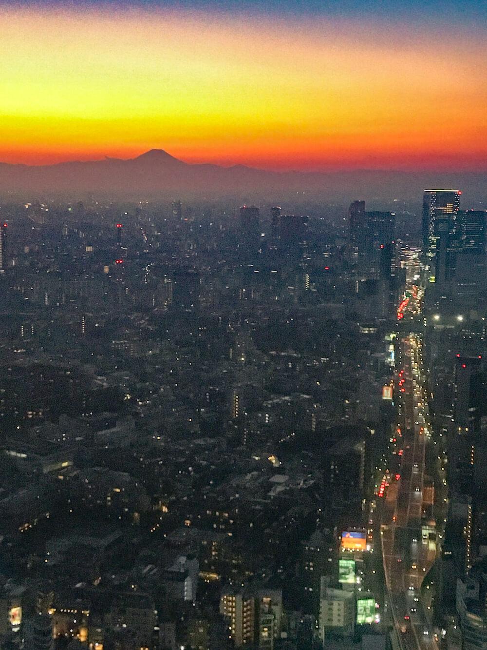 六本木森美術館 展望台 富士山 夜景