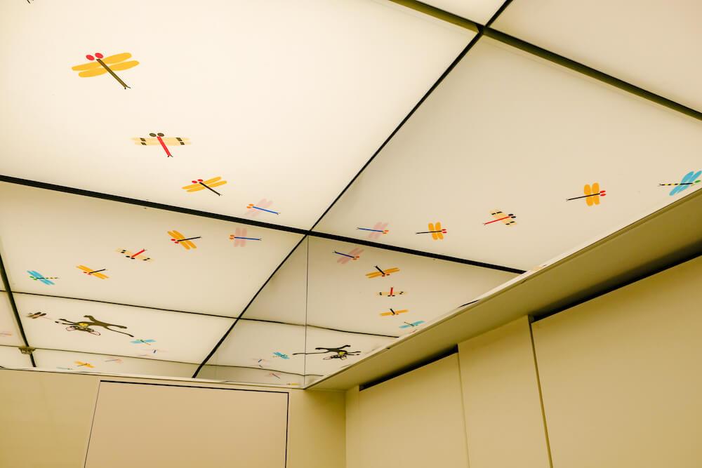 那須藤城清治美術館 廁所 天花板