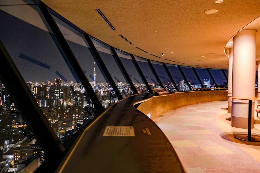 文京區市民中心展望廳(後樂園) 夜景