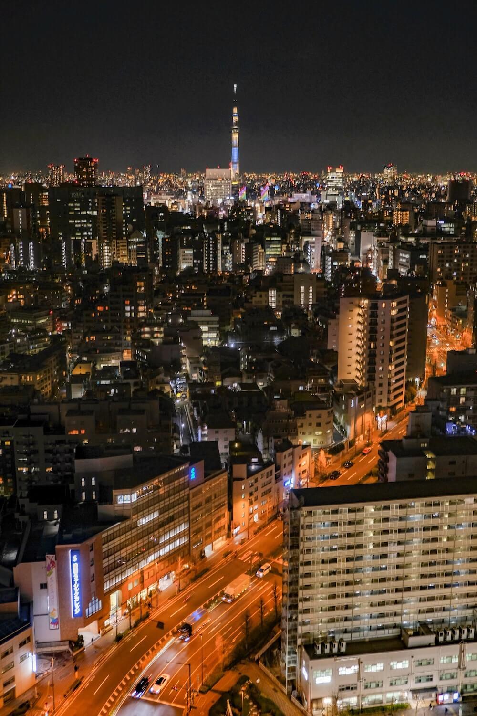 文京區市民中心(後樂園) 夜景