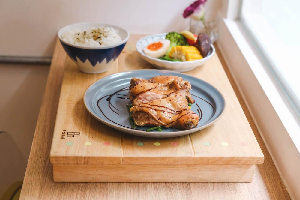 台北松江南京美食「男朋友家」第戎芥末籽烤雞