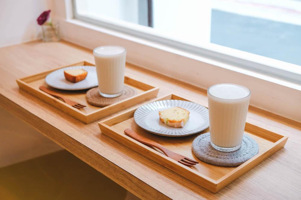 台北松江南京美食「男朋友家」去冰鮮奶茶與蛋糕