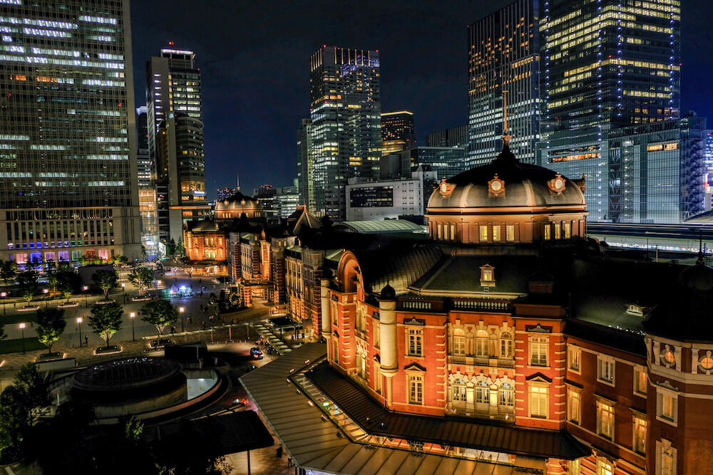 東京車站Kitte大樓(東京)夜景