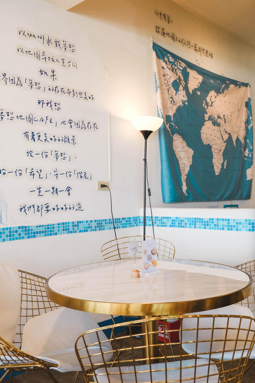 夢想地圖Cafe海景會館 內用座位區