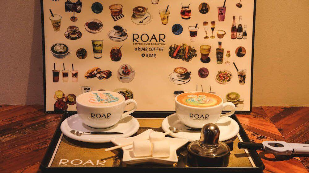 東京八丁堀・ROAR COFFEE HOUSE & ROASTERY 街角彩虹拉花咖啡廳&手烤棉花糖