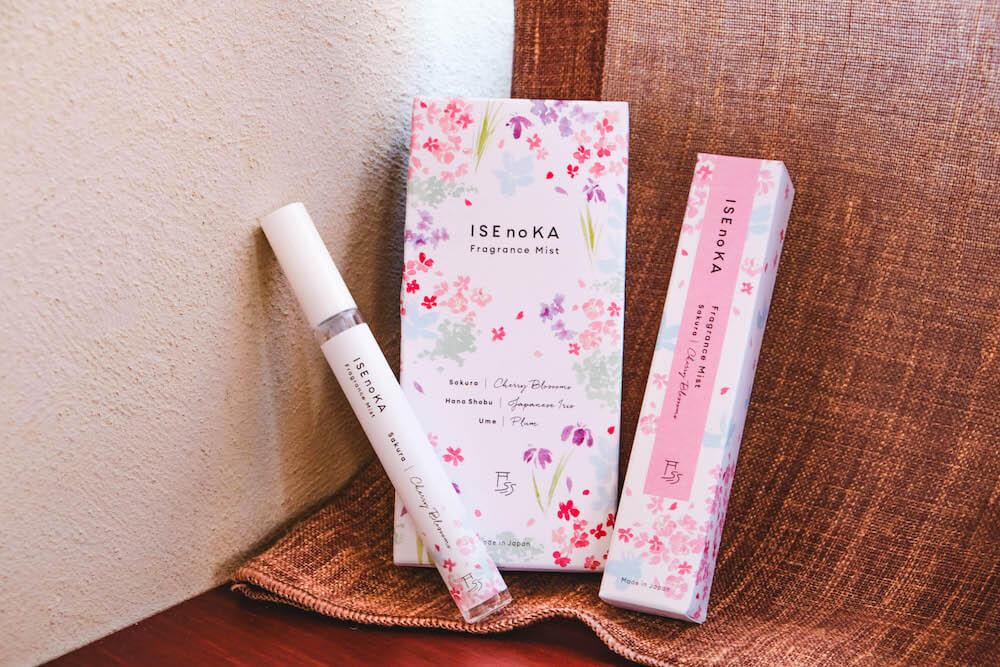 日和選物・伊勢伴手禮「ISEnoKA Fragrance Mist」梅/櫻/花菖蒲自然隨身噴霧